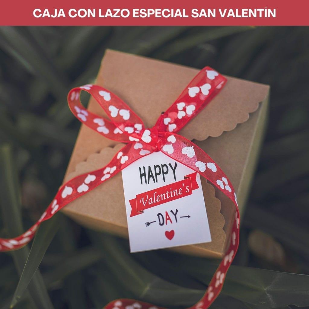 Caja con lazo especial San Valentín