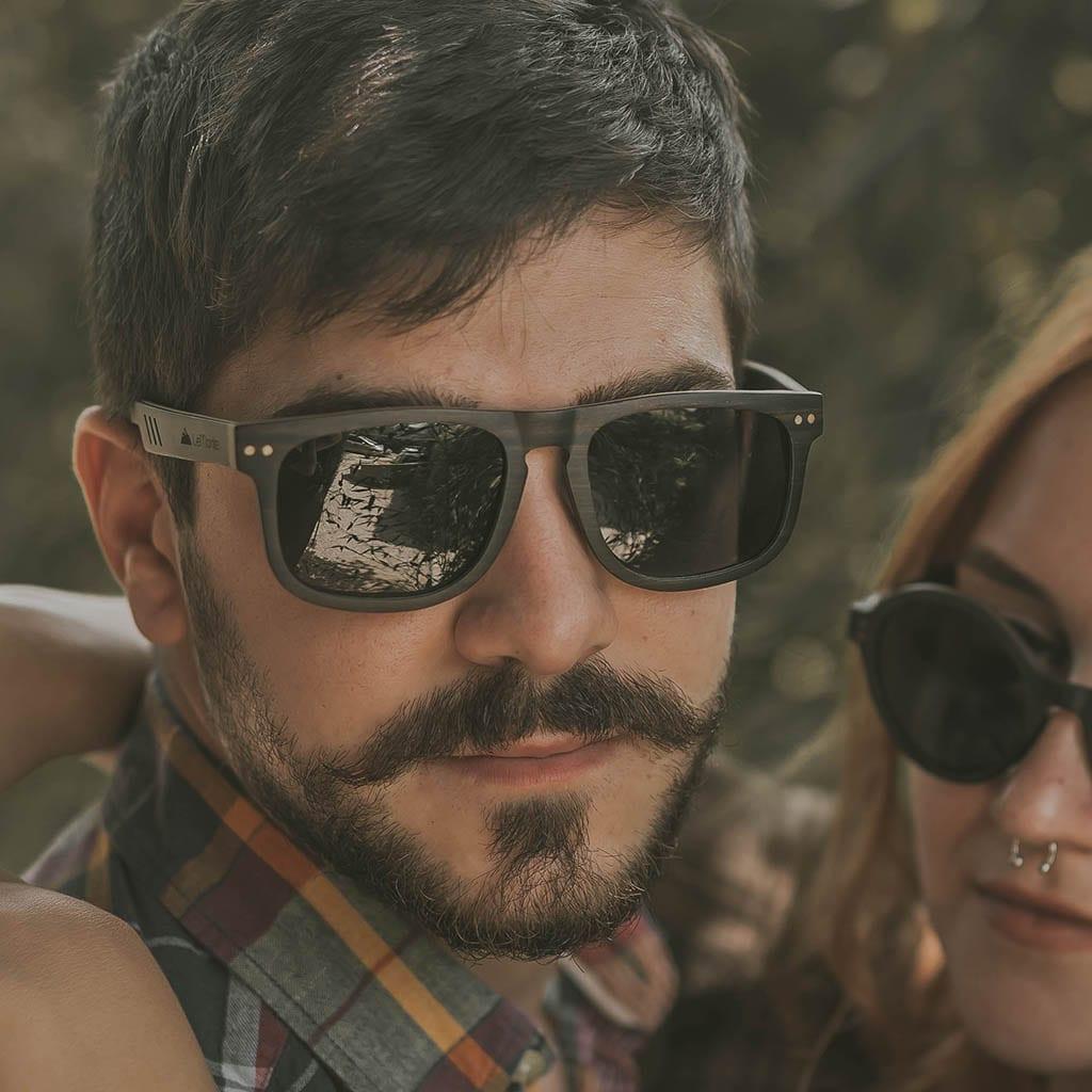 Gafas hombre de madera