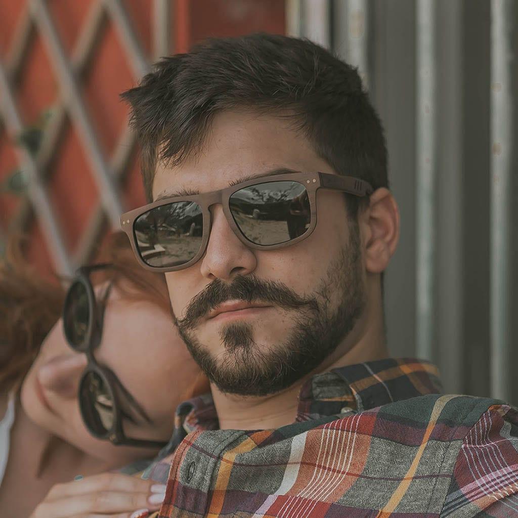 Gafas hombre madera