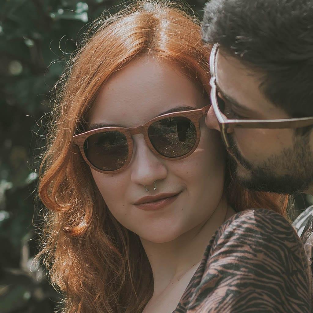 Gafas mujer madera