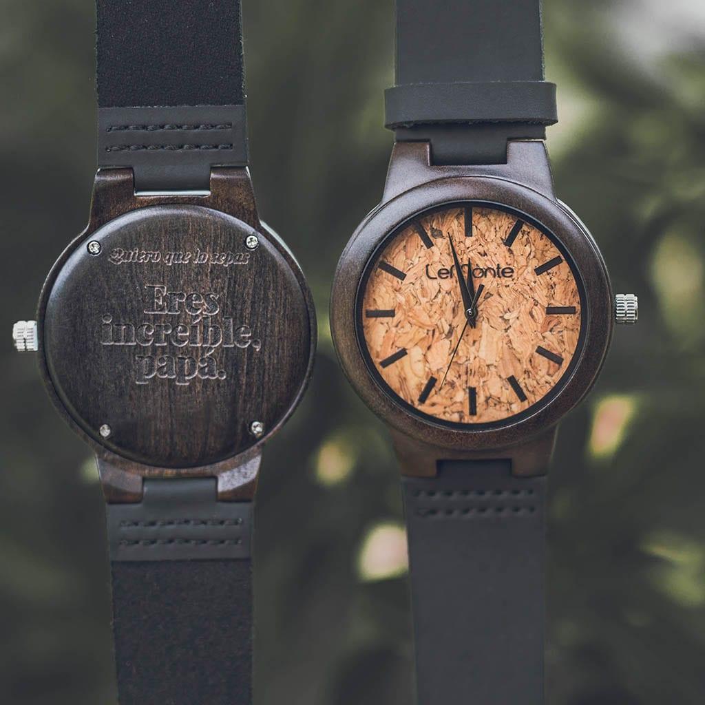 Reloj corcho y madera