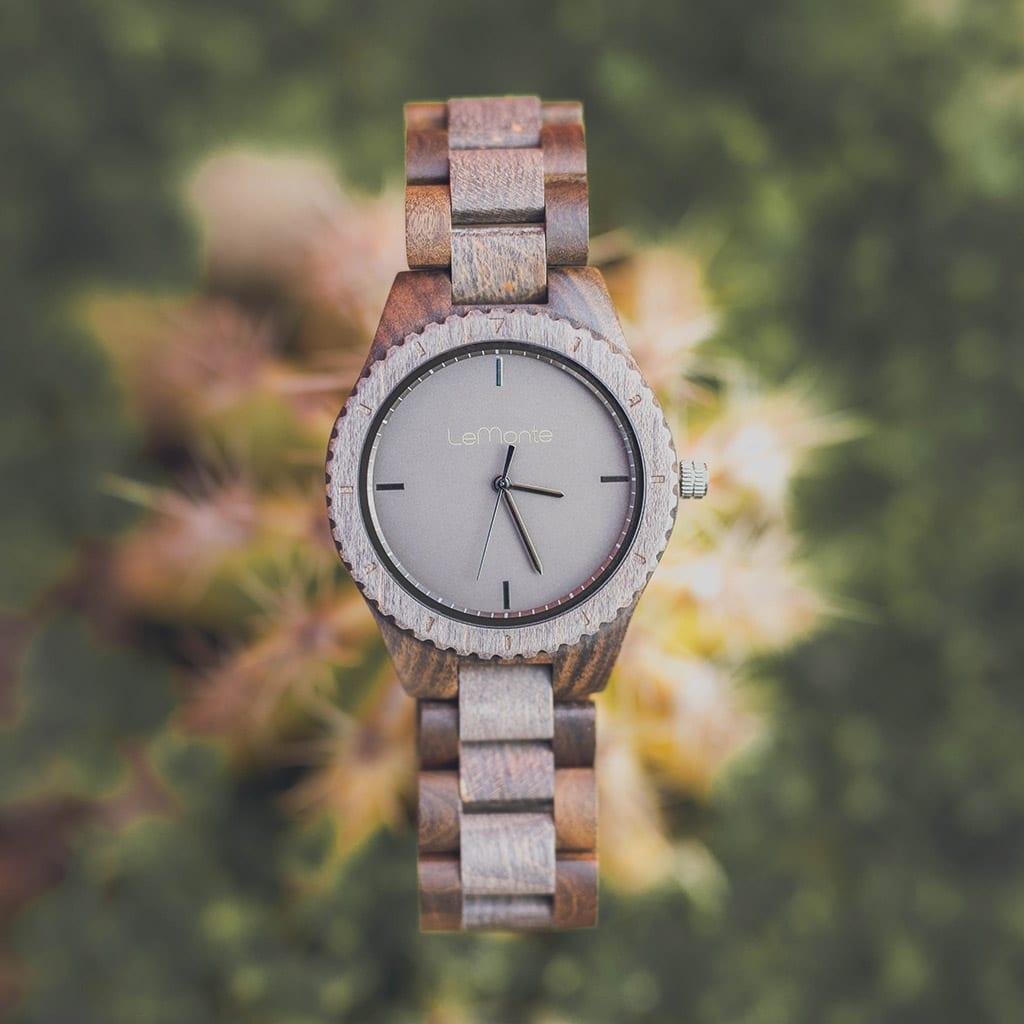 Reloj correa madera hombre lemonte