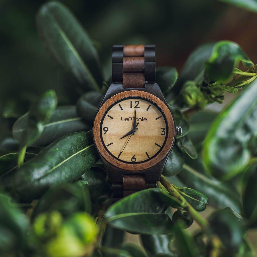 Reloj correa madera lemonte