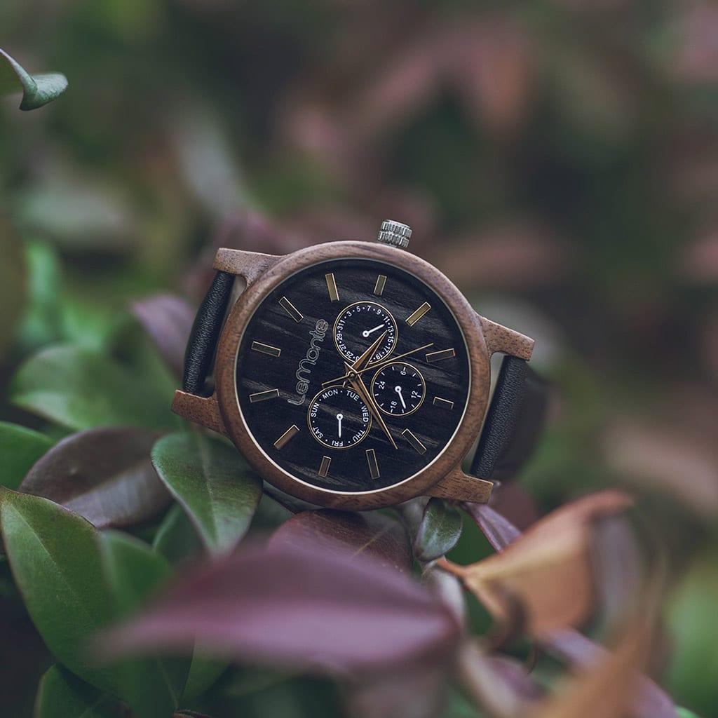 Reloj de madera Aneto
