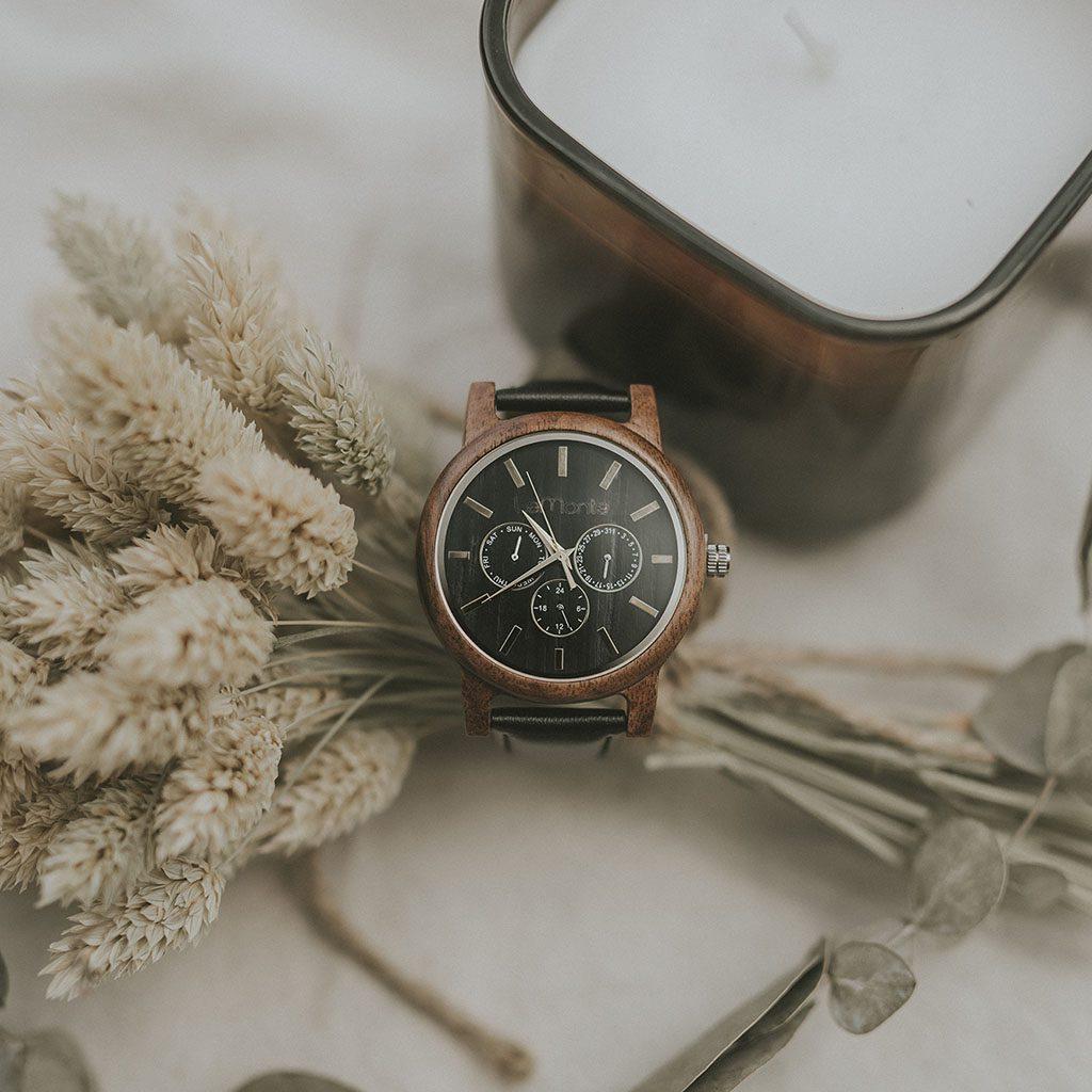 Reloj de madera cronografo