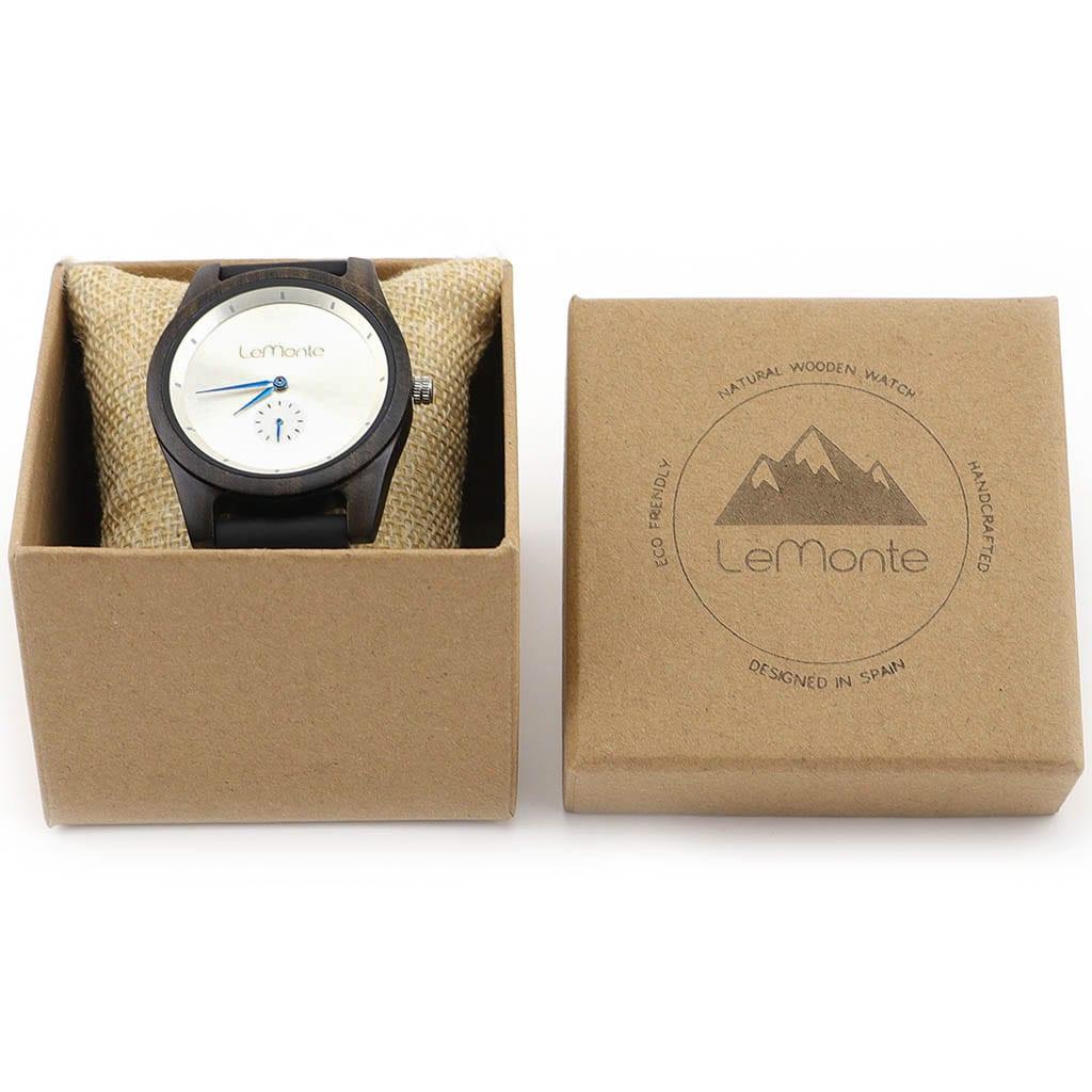 Reloj de madera de ebano