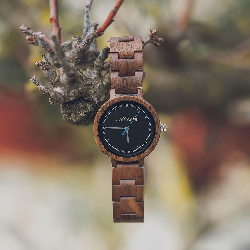 Reloj de madera kea