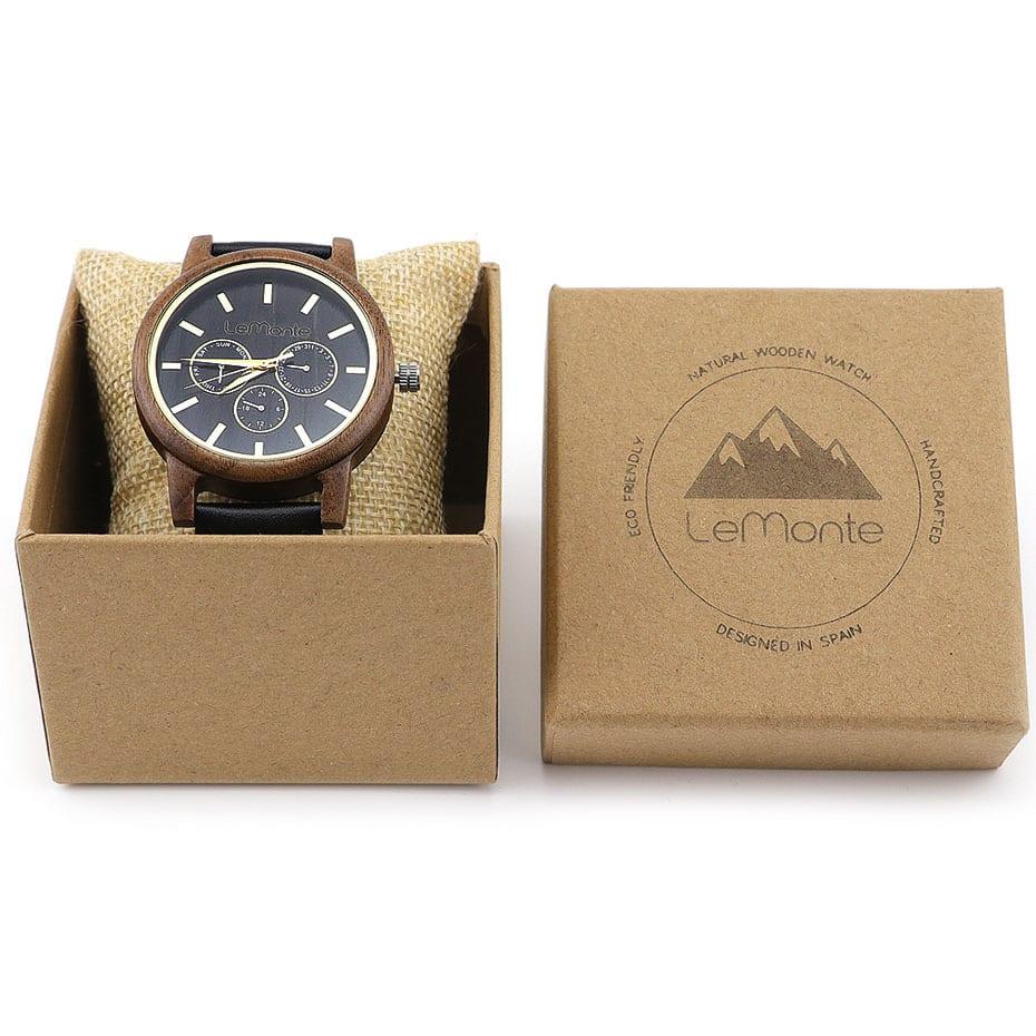 Reloj madera Aneto en caja