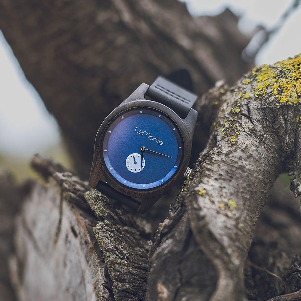 Reloj madera cervino-lemonte