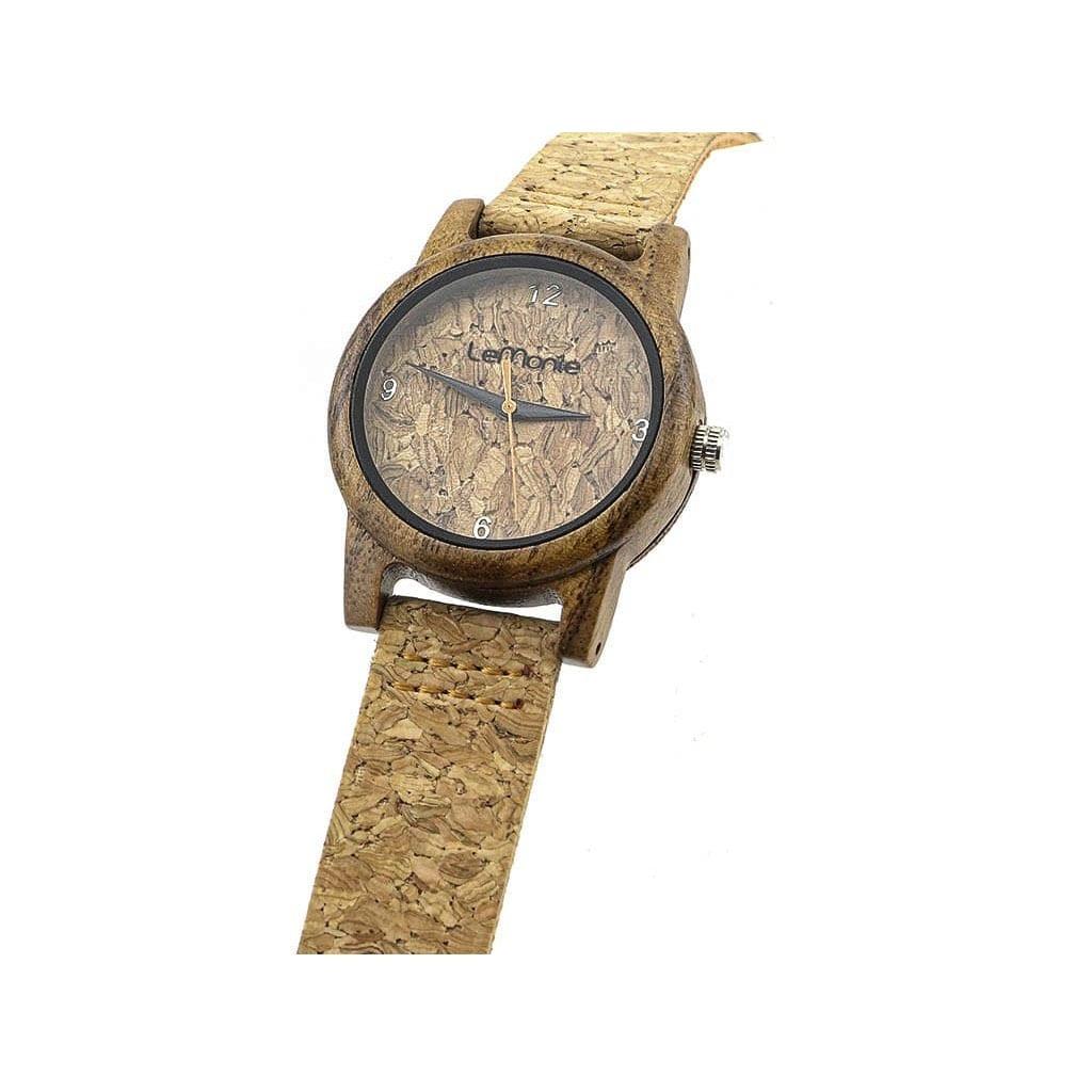 Reloj madera corcho