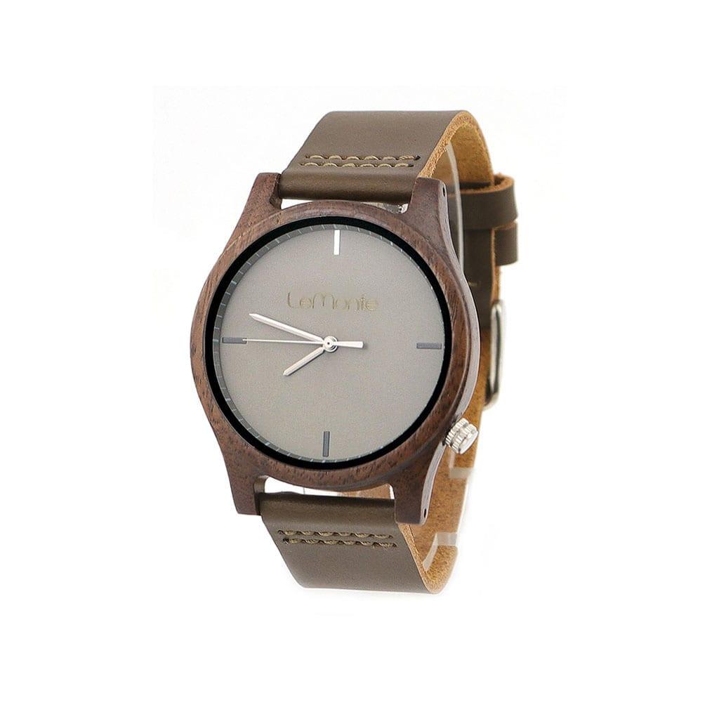 Reloj de madera gris