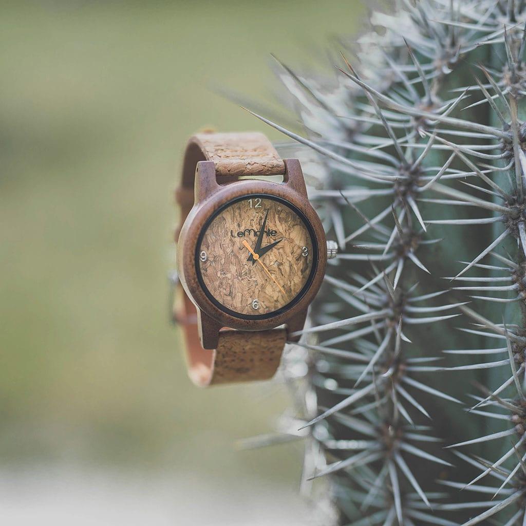 Reloj madera y corcho Lemonte