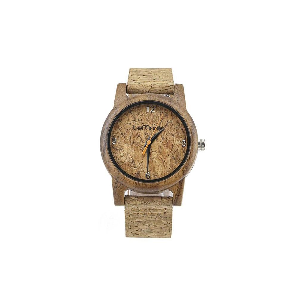Reloj madera y corcho