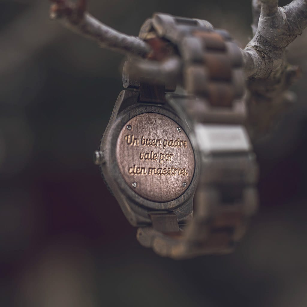 Reloj pulsera madera hombre