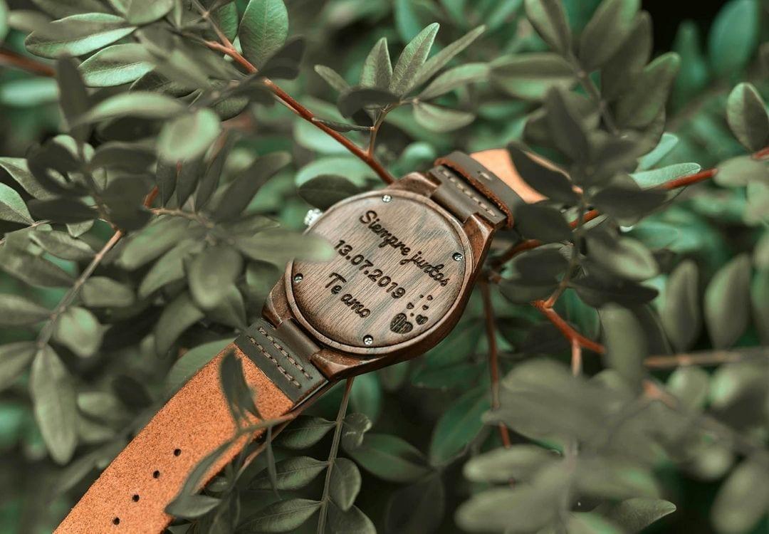 Reloj grabado con mensaje