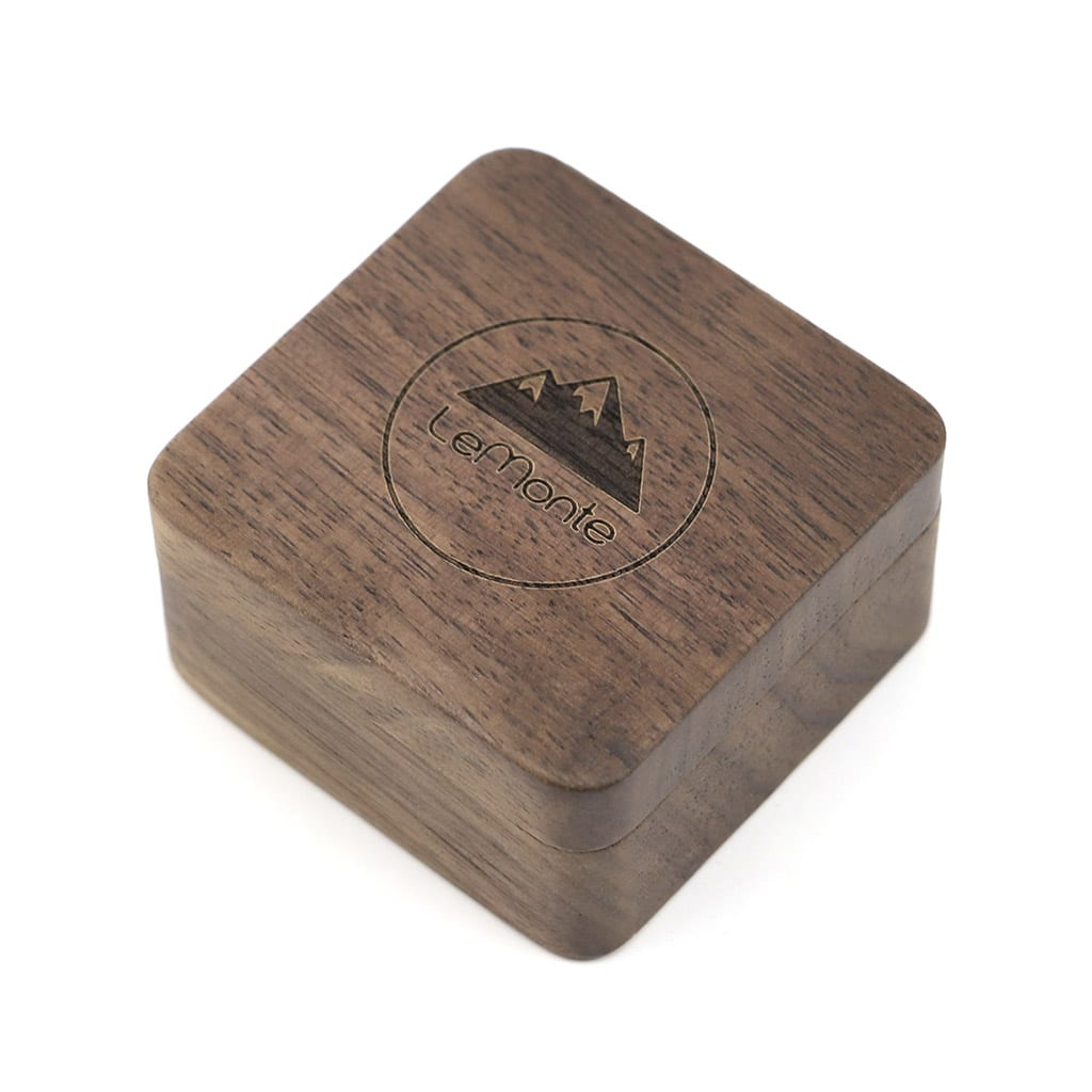 Caja para gemelos de madera