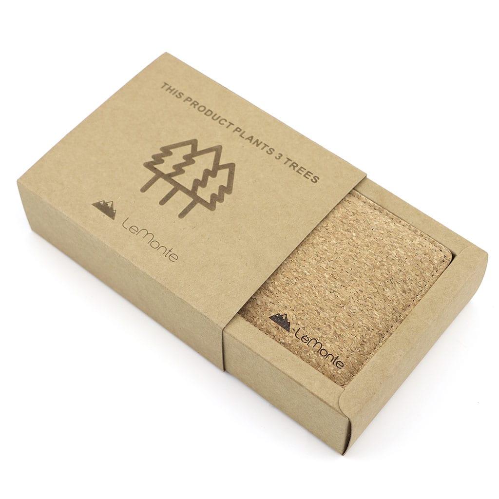 Cartera corcho packaging