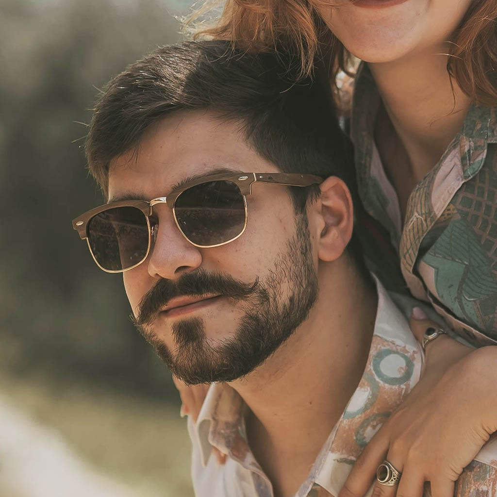Gafas de hombre madera