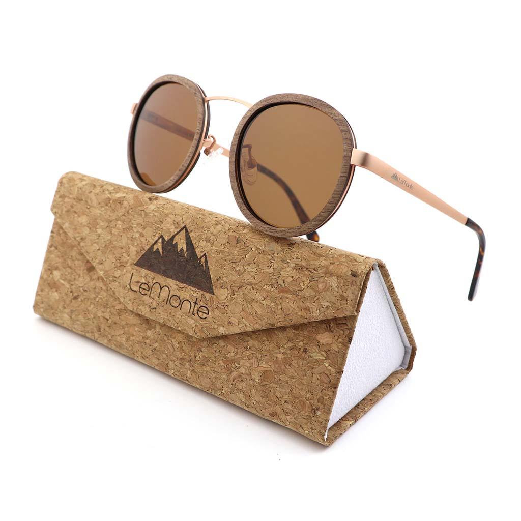 Gafas de madera y metal