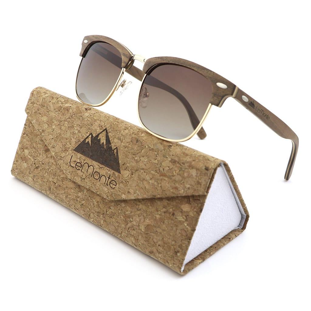 Gafas de madera de nogal