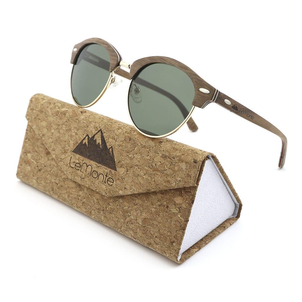 Gafas de madera redondas