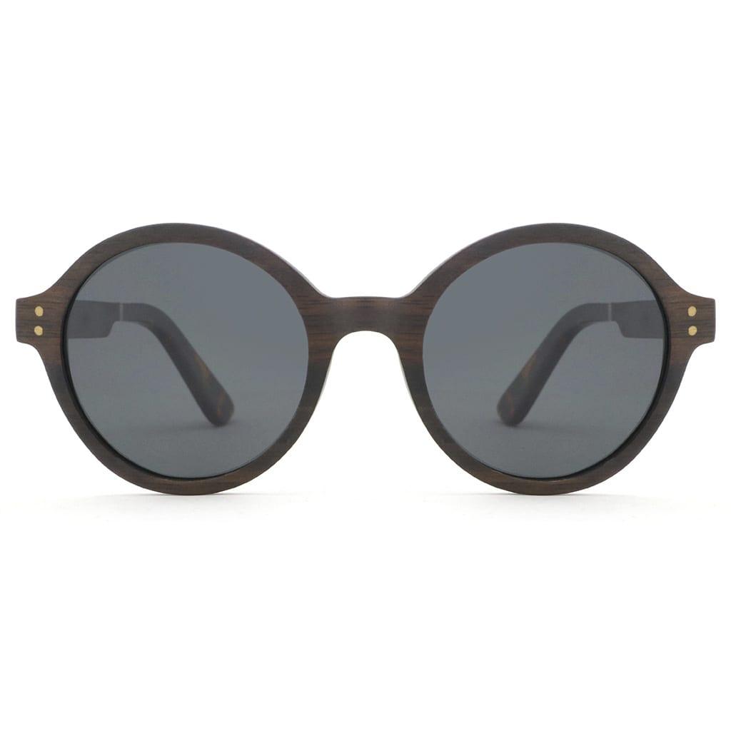 Gafas redondas madera
