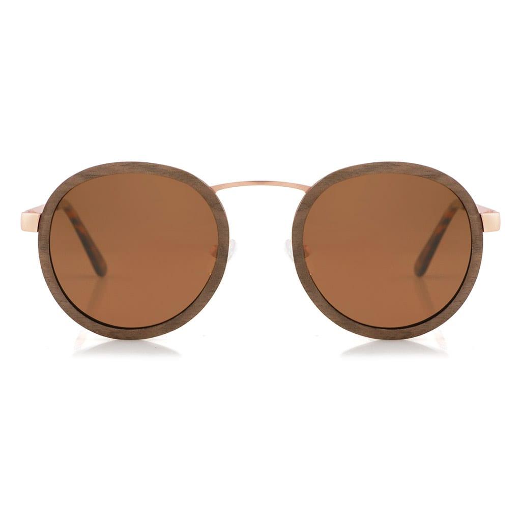 Gafas sol de metal y madera