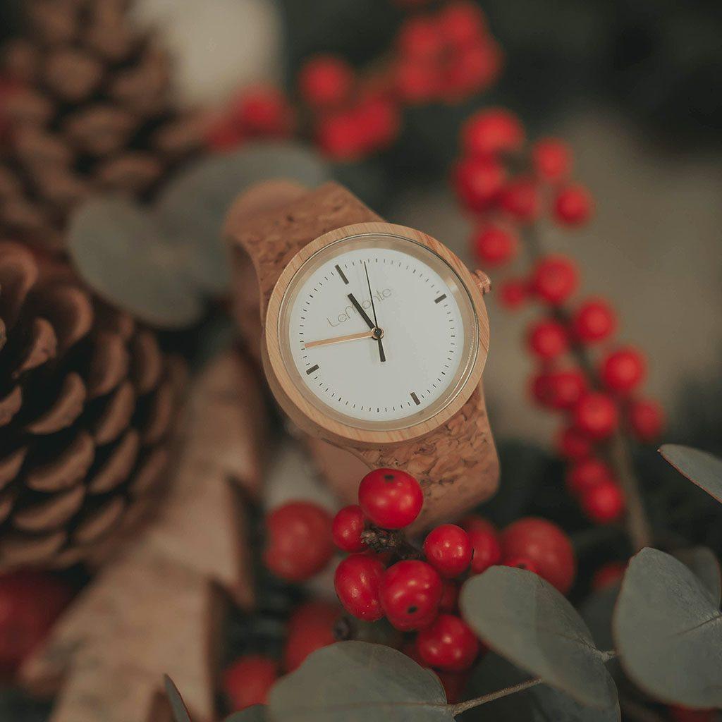 Reloj de corcho para mujer