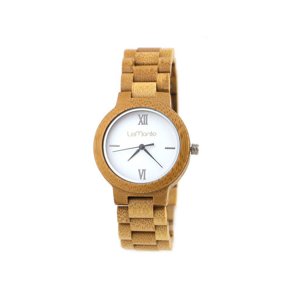 Reloj de bambú de mujer