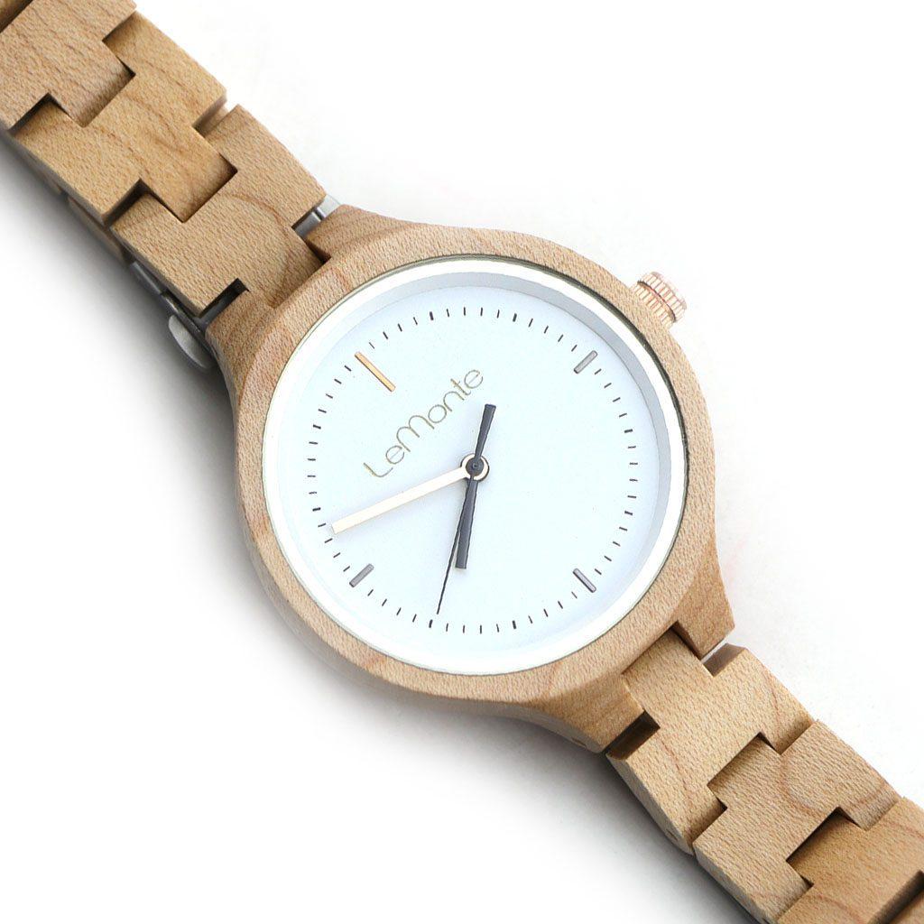 Reloj correa madera mujer