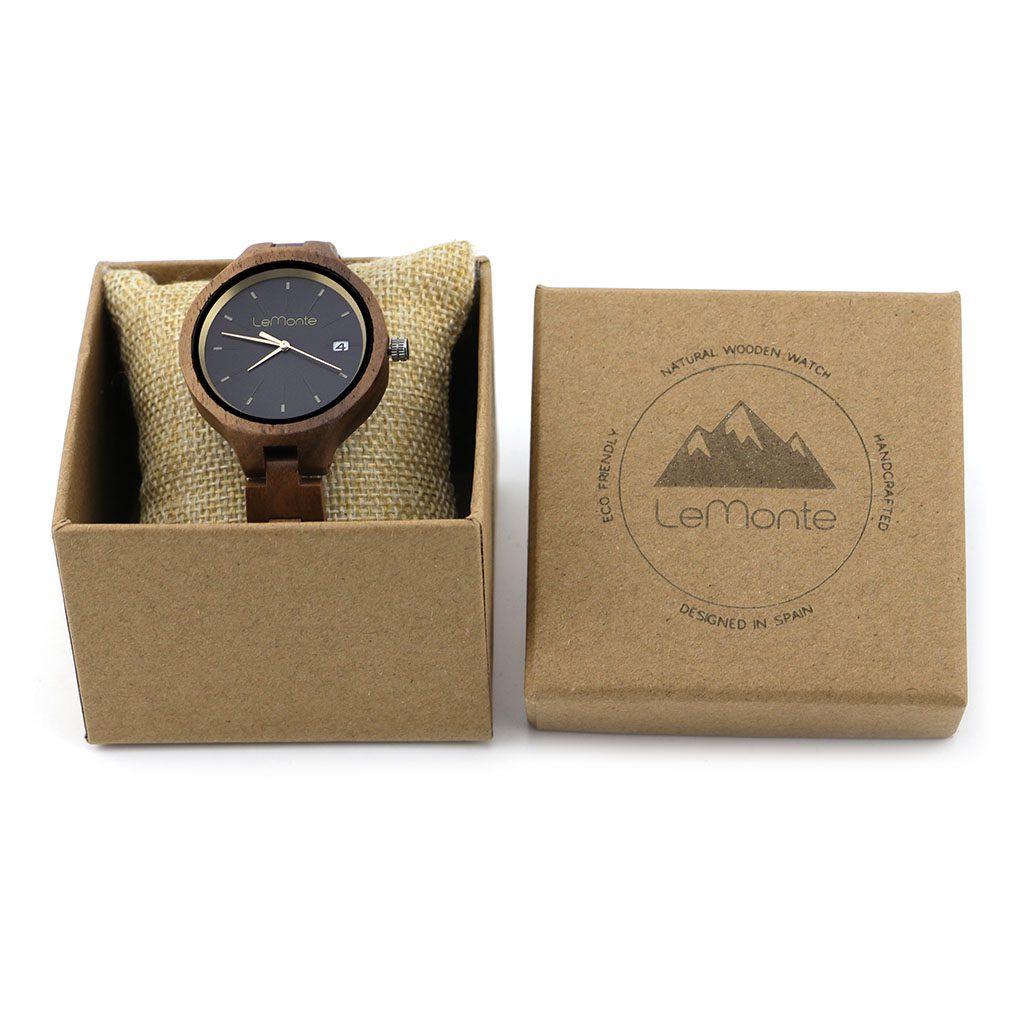 Reloj de mujer articulado de madera