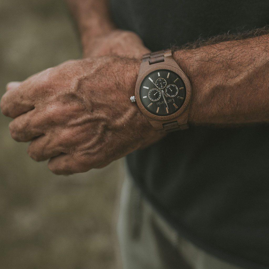 Reloj de madera lemonte para hombre