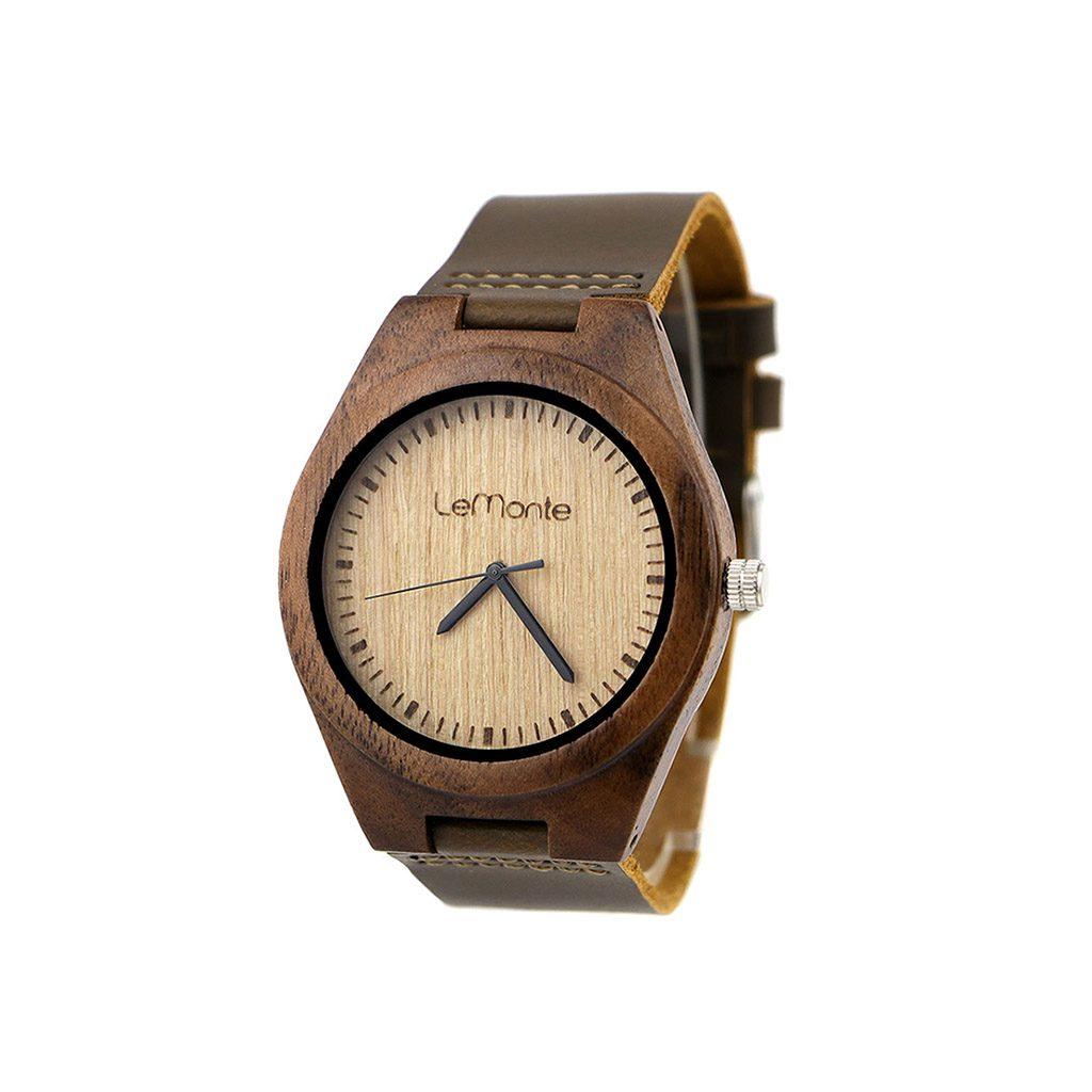 Reloj de madera de Lemonte