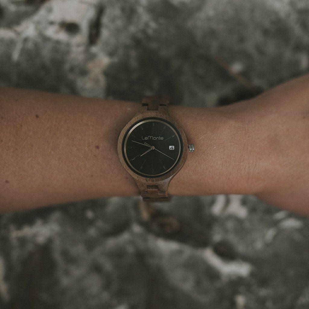 Reloj de muñeca de madera para mujer