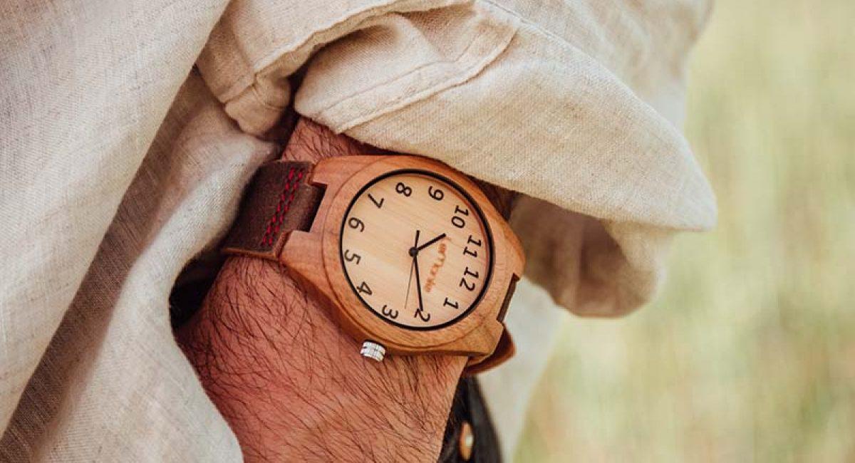 Reloj lemonte bambu