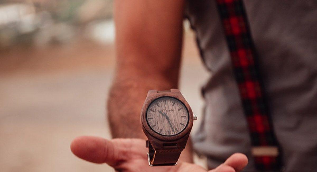 Reloj madera dark walnut