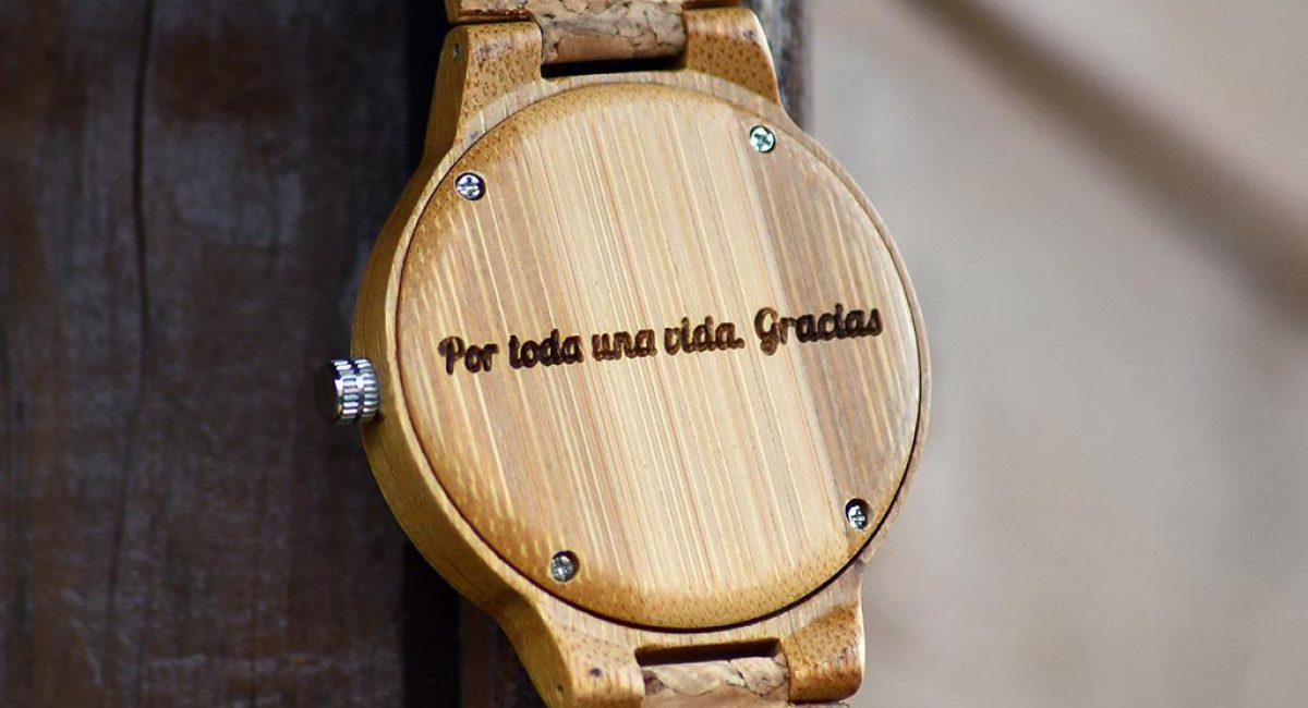 Reloj personalizado corcho